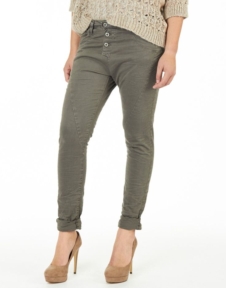 Please hose damen khaki