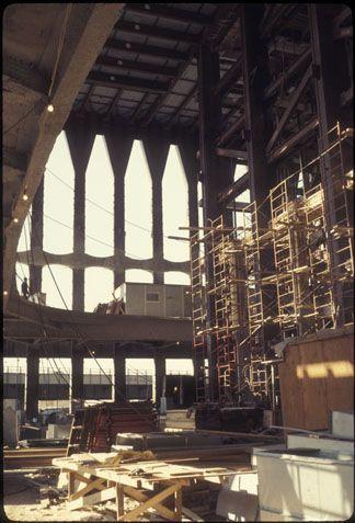 Lobby under construction.
