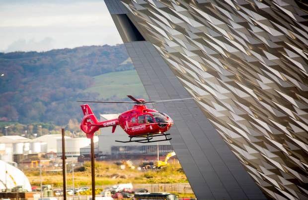 Watch: Northern Ireland Air Ambulance lifts off in Belfast - Belfast Telegraph
