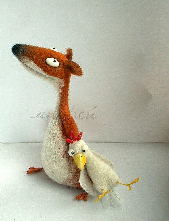 Купить лиса плутовка курицу украла. - рыжий, лиса, хитрая, сувенир, подарок, прикольный подарок