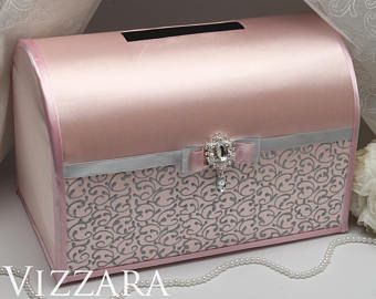 Wedding money boxes Blush wedding Money box for weddings Blush and grey wedding Wedding gift money box Blush wedding decor