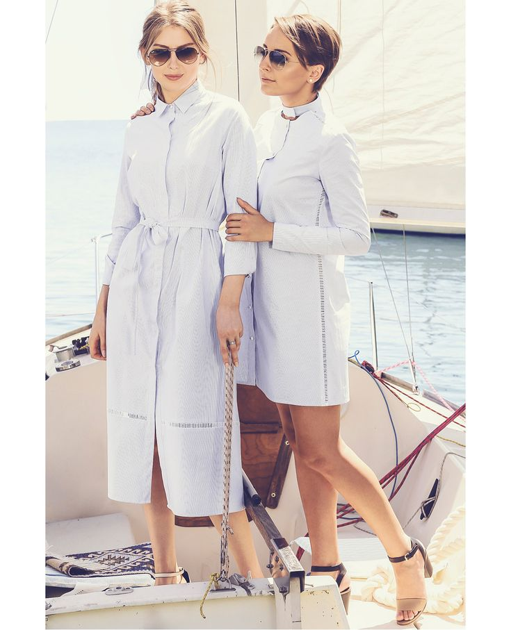 Wardrobe Detectives & Raquette Resort'16 striped jacket, summer style, vacation style, resort, cruise collection, nautical style, fashion editorial yacht, shirt dress, cotton dress shirt