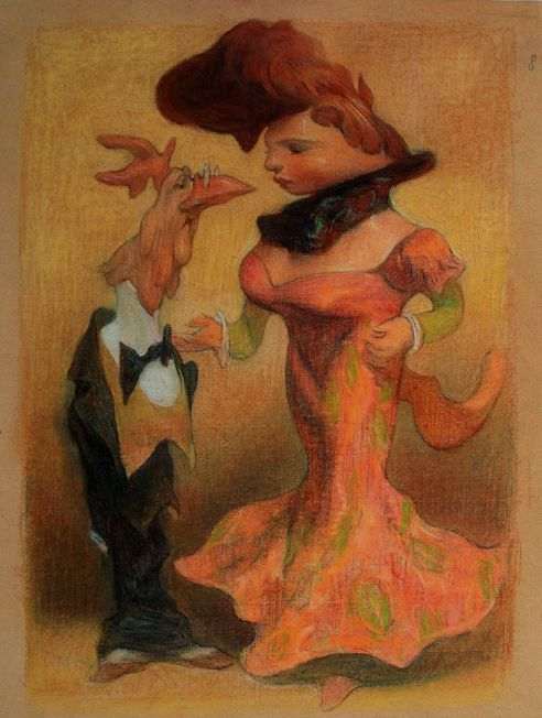 "Carlos Nine | illustration from ""Teatro de los Animales"""