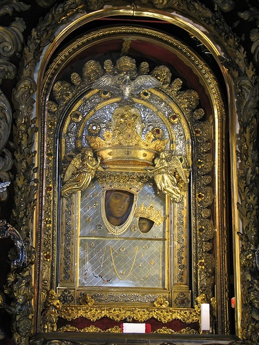 Bologna - Sanctuary of the Madonna di San Luca - The miraculous icon of the virgin