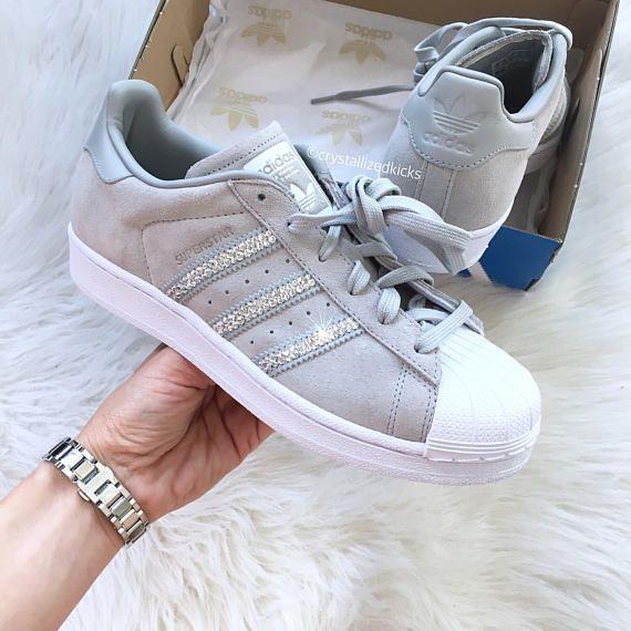 Adidas Original Superstar de las mujeres Producto #: S76157 Estilo  seleccionado: Blanco/gris
