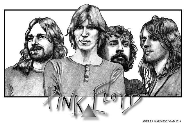 Andrea Marongiu on Talenthouse  #pinkfloyd #drawing #portrait #illustration #music #rock
