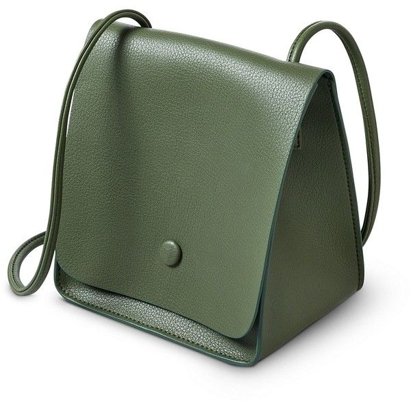Khaki Naya Mini Triangle Cross Body Bag | Oliver Bonas (2,105 PHP) ❤ liked on Polyvore featuring bags, handbags, shoulder bags, mini purse, olive green handbag, green crossbody purse, mini crossbody purse and mini cross body purse