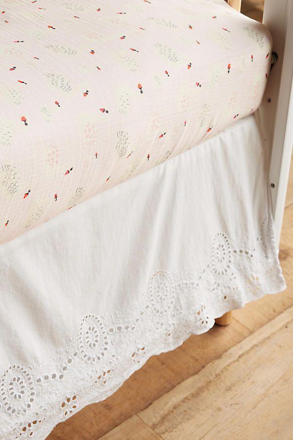 Slide View: 2: Eyelet Lace Crib Skirt