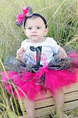 Mossy Oak Camo Tutu with headband and matching bow on Etsy, $30.00