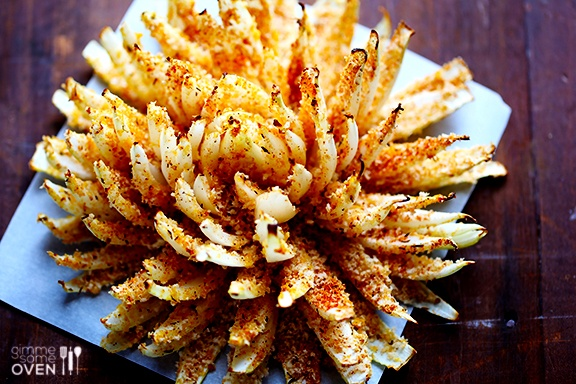A healthier and baked version of the classic blooming onion.