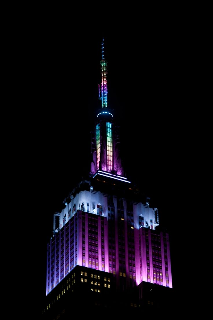 April 3, 2015: In honor of Easter weekend, the Empire State Building glows in pastel fades for three nights.