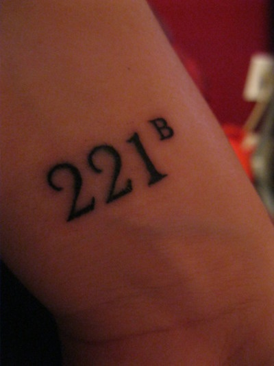 """""""The name's Sherlock Holmes, and the address is 221B Baker Street"""" Would be SUCH a cute tattoo"""