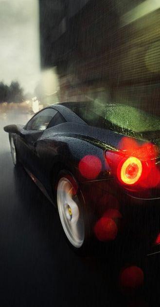 FerrariThe Roads, Sports Cars, Ferrari 458, 458 Italian, Dark Knight, Desktop Wallpapers, Awesome Cars, Black, Rain