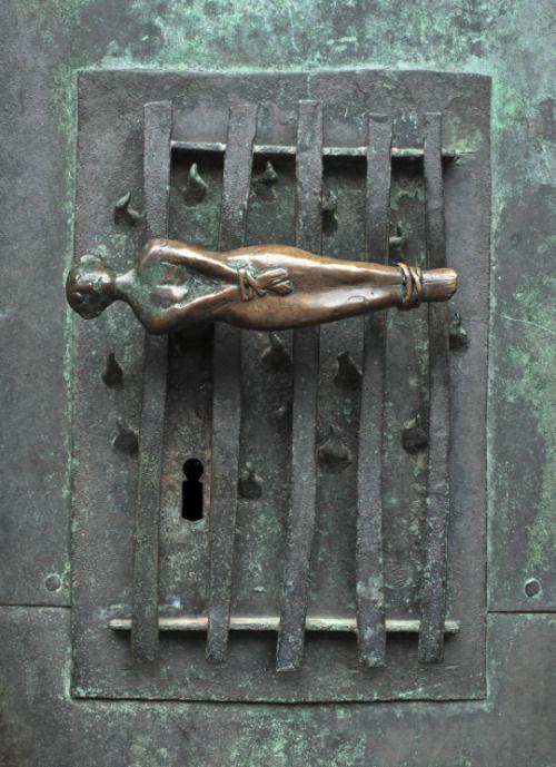 "maertyrer: "" Unknown Artist Martyrdom of St. Lawrence Door Handle, Parish  Church of St."