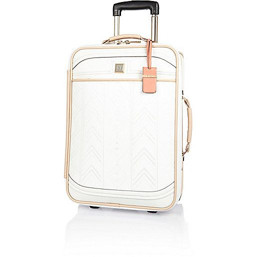 White embroidered suitcase - luggage - bags / purses - women