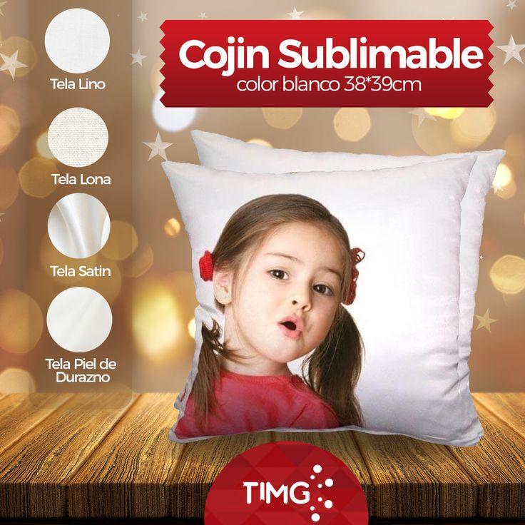 Disponible en #TiendasTIMG Cojines 38x39cm blancos sublimable en diversos tipos de tela. -Tela Lino -Tela Lona -Tela Satin -Tela Piel de Durazno Para saber mas de este producto ingresa a www.suministro.cl