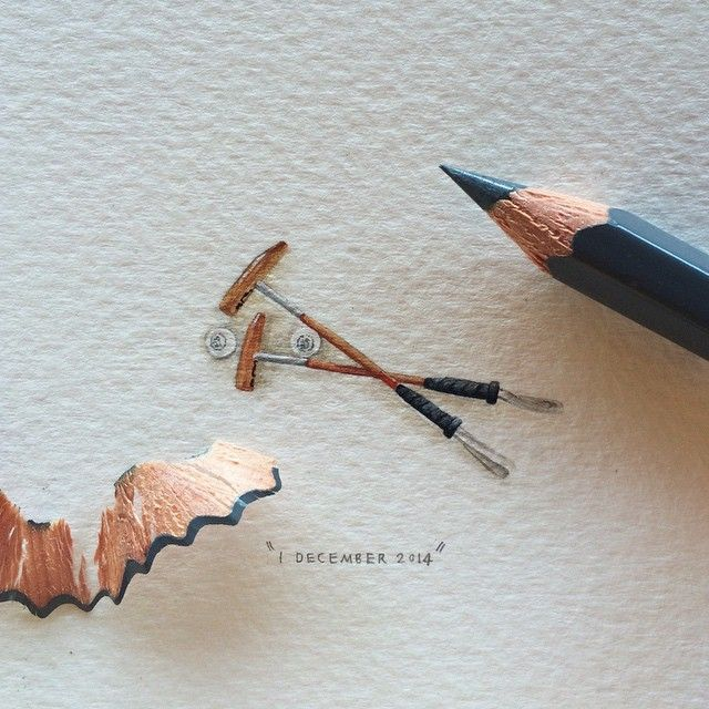 Tiny Watercolor Of Tools