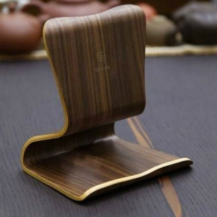 Pure Walnut Wood Universal Tablet PC Stand