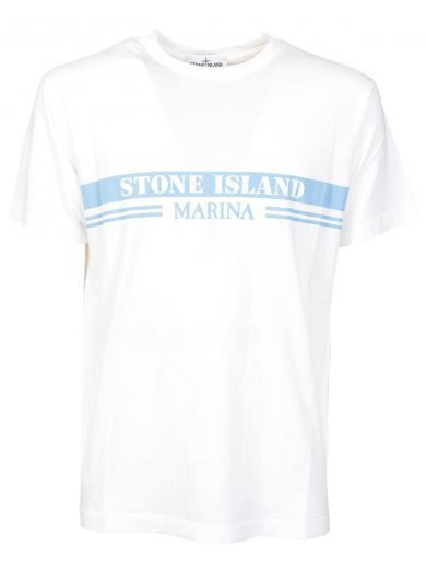 STONE ISLAND Stone Island Logo Print T-shirt. #stoneisland #cloth #https: