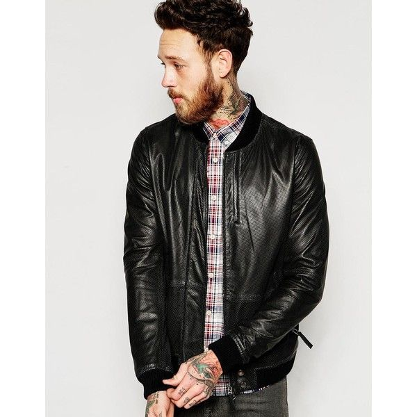 1000  ideas about Mens Leather Bomber Jacket on Pinterest | Jeans
