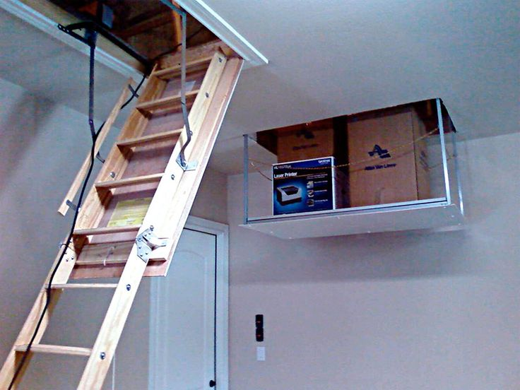 17 best images about garage on pinterest attic lift Garage attic lift elevator