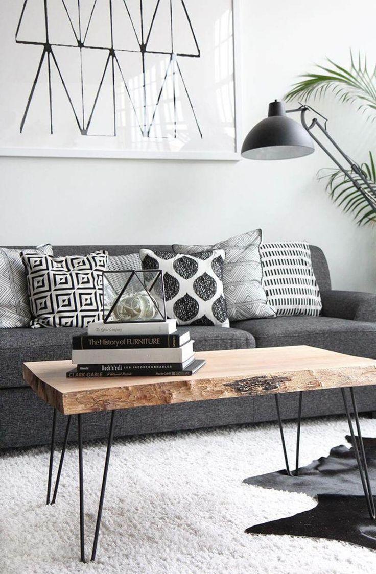 Luxus Wohnzimmer-Ideen für eine skandinavische In…