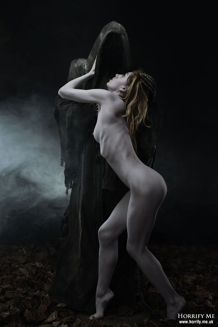 Dark erotic guillotine art hot nude