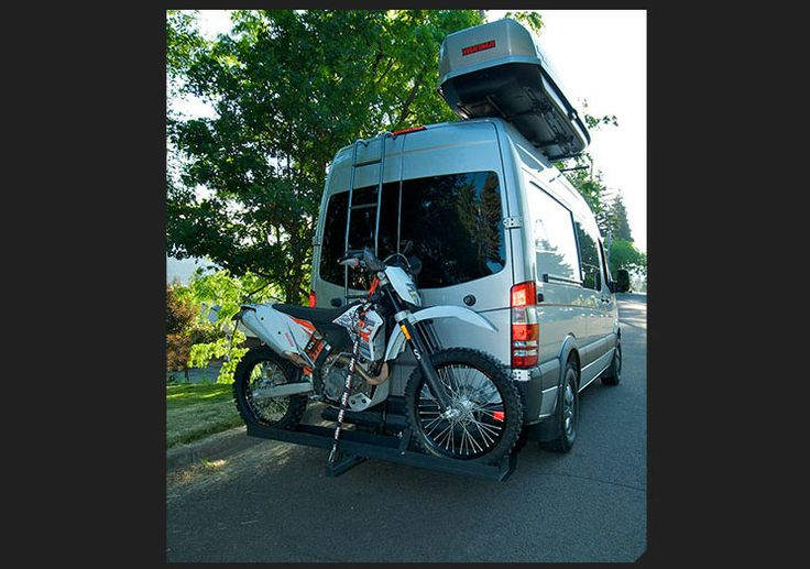 Bike rack on Sprinter | RV | Bike hitch, Mercedes van ...