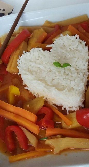 Basmati Reis mit Süß-Sauer Soße - gesund und ohne raffinierten Zucker!