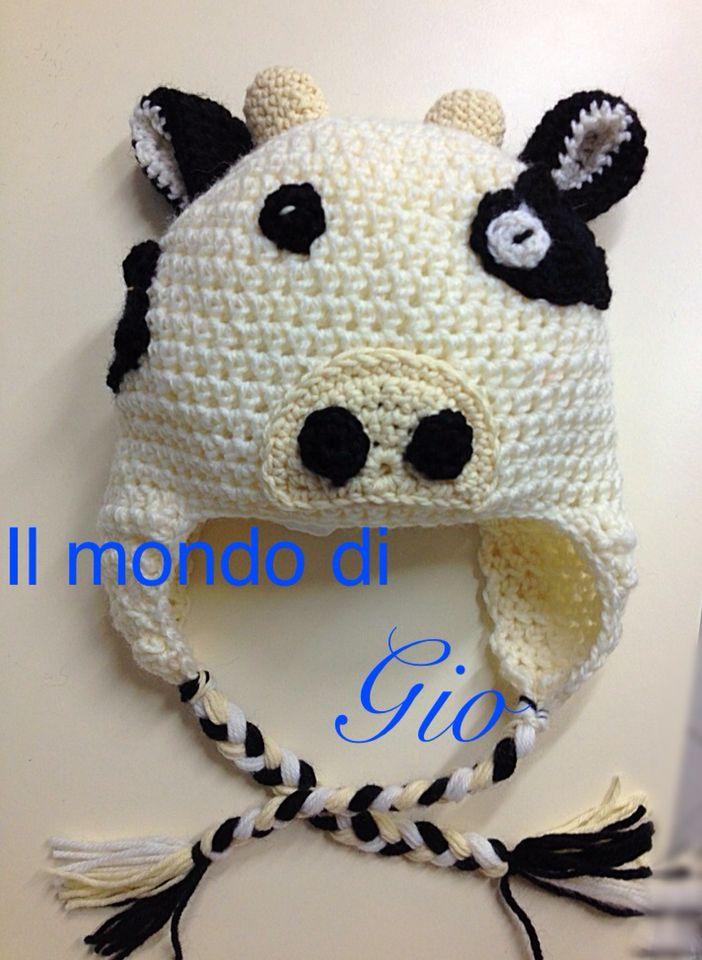 Berretto mucca  Crochet