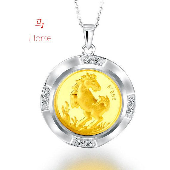 Chinese Zodiac Lucky Wealthy Life Pendant 24K Gold by ATHiNGZ, $59.99