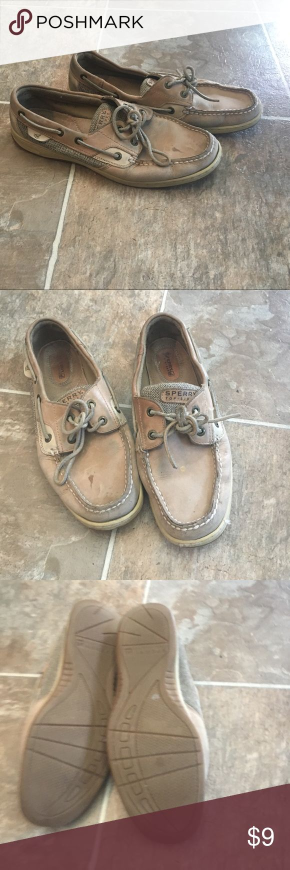 Women Sperry Top Slider Worn Sperry women shoes. Have wear and tear but feel fabulous. Sperry Shoes Flats & Loafers