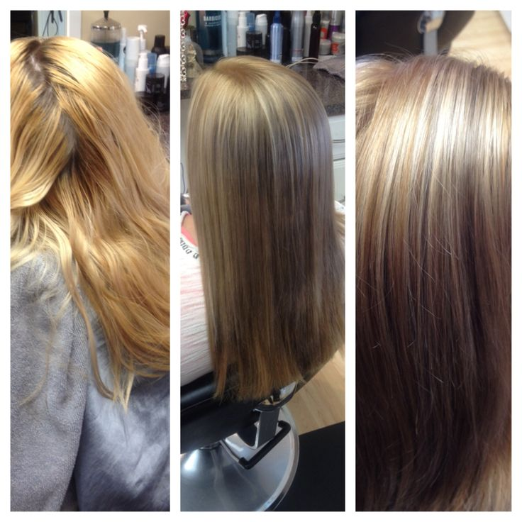 Hair color highlights blonde