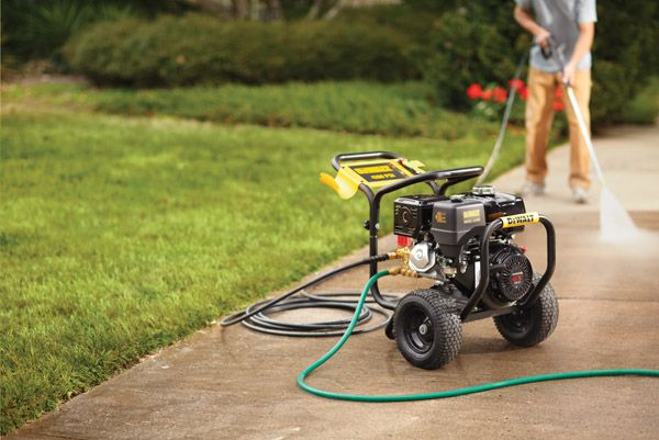 Give your driveway new life with a good cleaning. Pressure washing is an easy and quick DIY project. Don't forget you can rent a pressure washer from your local Home Depot Rental Center.