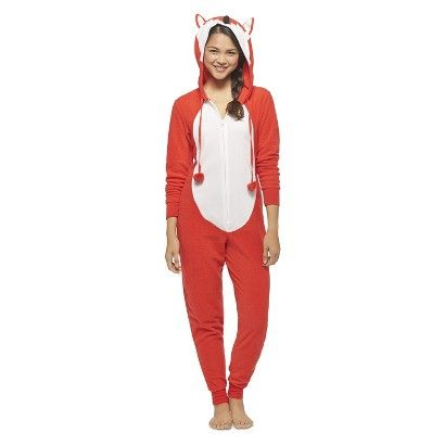 Women's Fox Footie PJ Red Target (M) Ide wear this