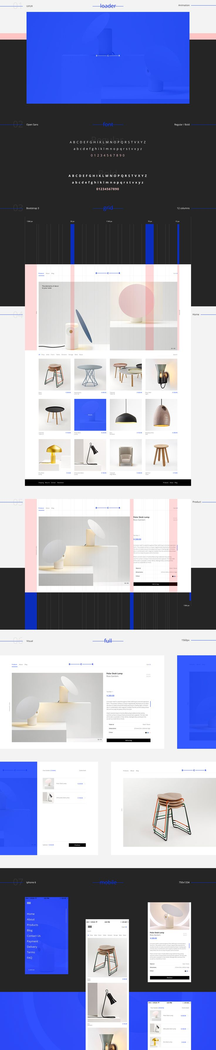 We are glad to present a new project - online shop for decor. Clean, bright…
