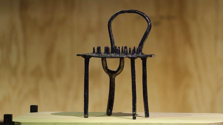 handmade ceramic sculpture chair #design #chair #sculpture #objectdesign