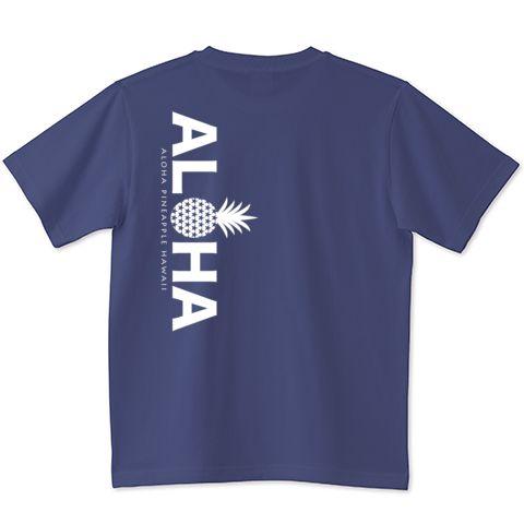 074 バックプリント縦ALOHA (White) | デザインTシャツ通販 T-SHIRTS TRINITY(Tシャツトリニティ)