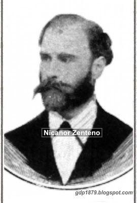 Nicanor Zenteno, Cónsul de Chile en Antofagasta durante la toma de Antofagasta por la armada chilena el 14 de Febrero de 1879. Primer gobernador civil de la provincia de Antofagasta de acuerdo con nombramiento entregado por el Coronel Emilio Sotomayor.