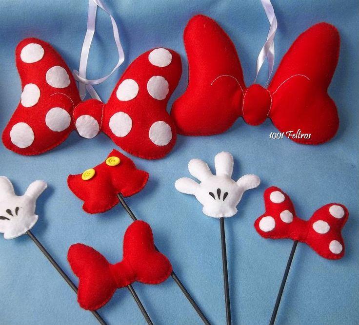 Decoração Mickey e Minnie Mouse