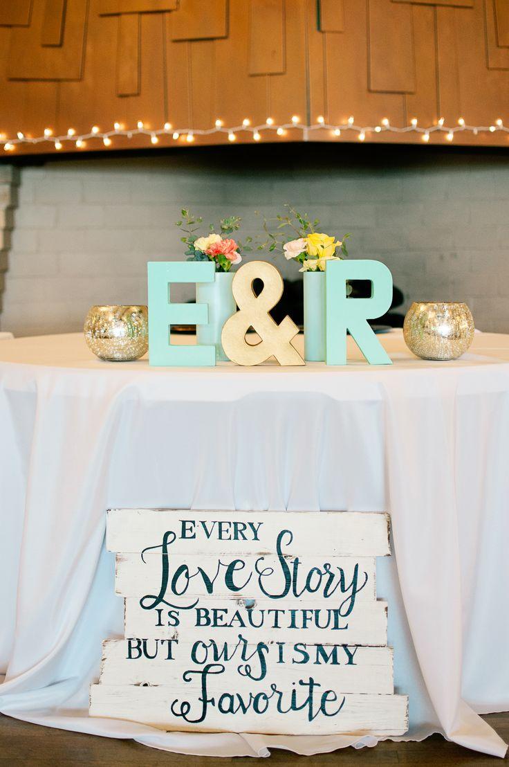mint and yellow #sweethearttable ideas @weddingchicks