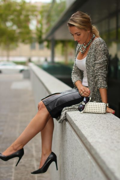 amazing pencil skirt outfits | leather pencil skirt with Zara - Rock | auf fashionfreax kannst du ...
