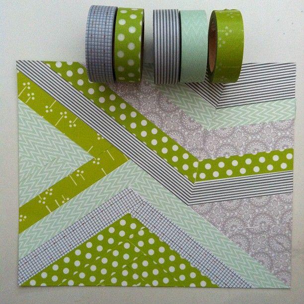 washi tape collage / Tableau en masking tape #masking tape #washi tape
