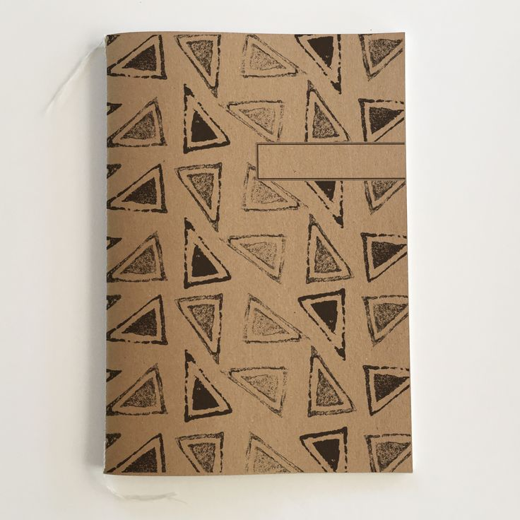 A5 African Design Notebook. Made with 100% recycled paper.