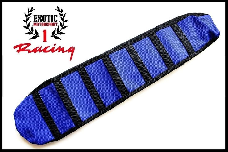 Ribbed Gripper Seat Cover Black//Blue Yamaha YZ125 YZ250 2002-2017