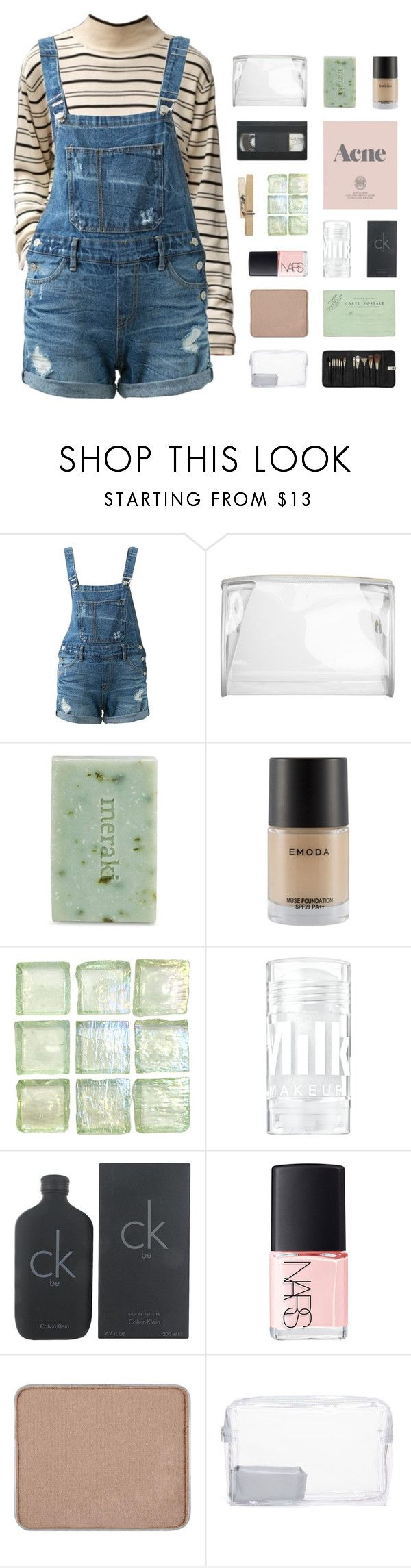 """""""- i might get to too much talking, i might have to tell you something"""" by p-ureness ❤ liked on Polyvore featuring Guild Prime, Meraki, Prada, Calvin Klein, NARS Cosmetics, shu uemura, Topshop and Sephora Collection"""