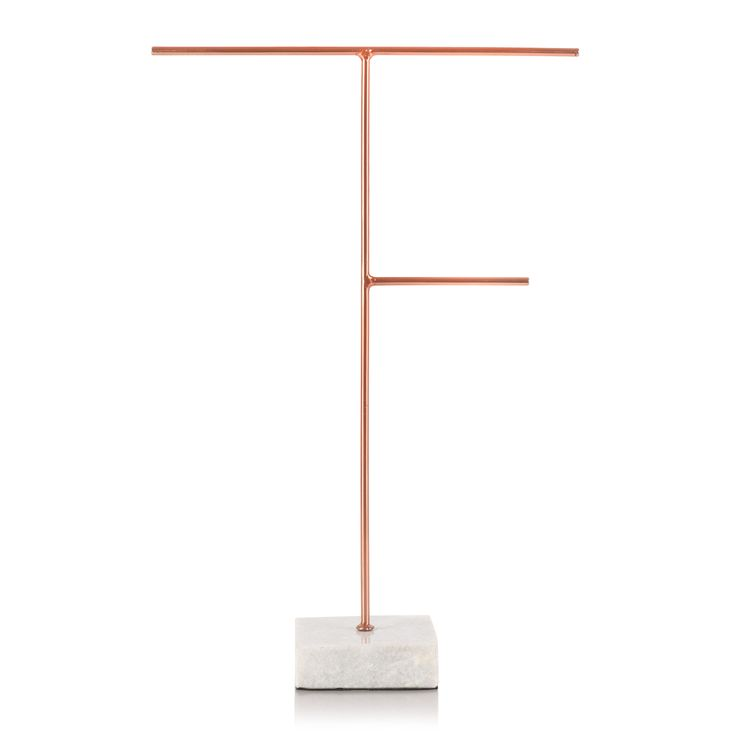 Buy the Large Copper & Marble Jewellery Stand at Oliver Bonas. Enjoy free UK standard delivery for orders over £50.