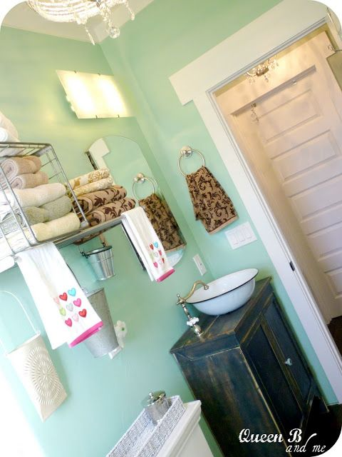 Queen B And Me Small Bathroom Remodel On A Budget Bathroom Redo Steampunk Style