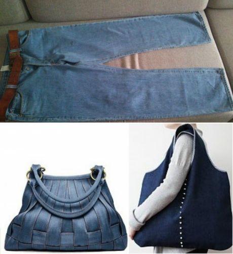 Специально отыскала старые джинсы-варенки, чтобы сделать эту вещь! За 15 минут справилась — В Курсе Жизни