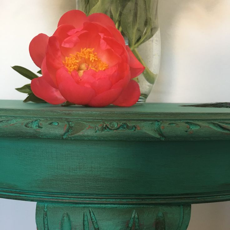 beautiful florence green half moon table vintage table console table lamp table
